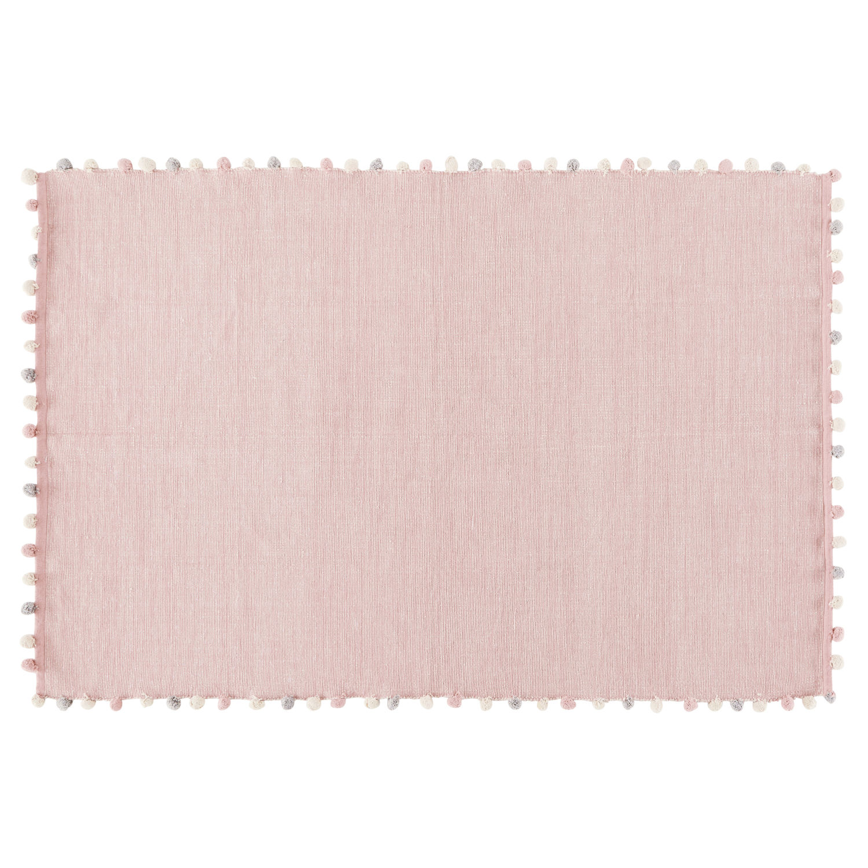 Tapis à Pompons En Coton Rose 120x180 Bucolique Maisons Du Monde