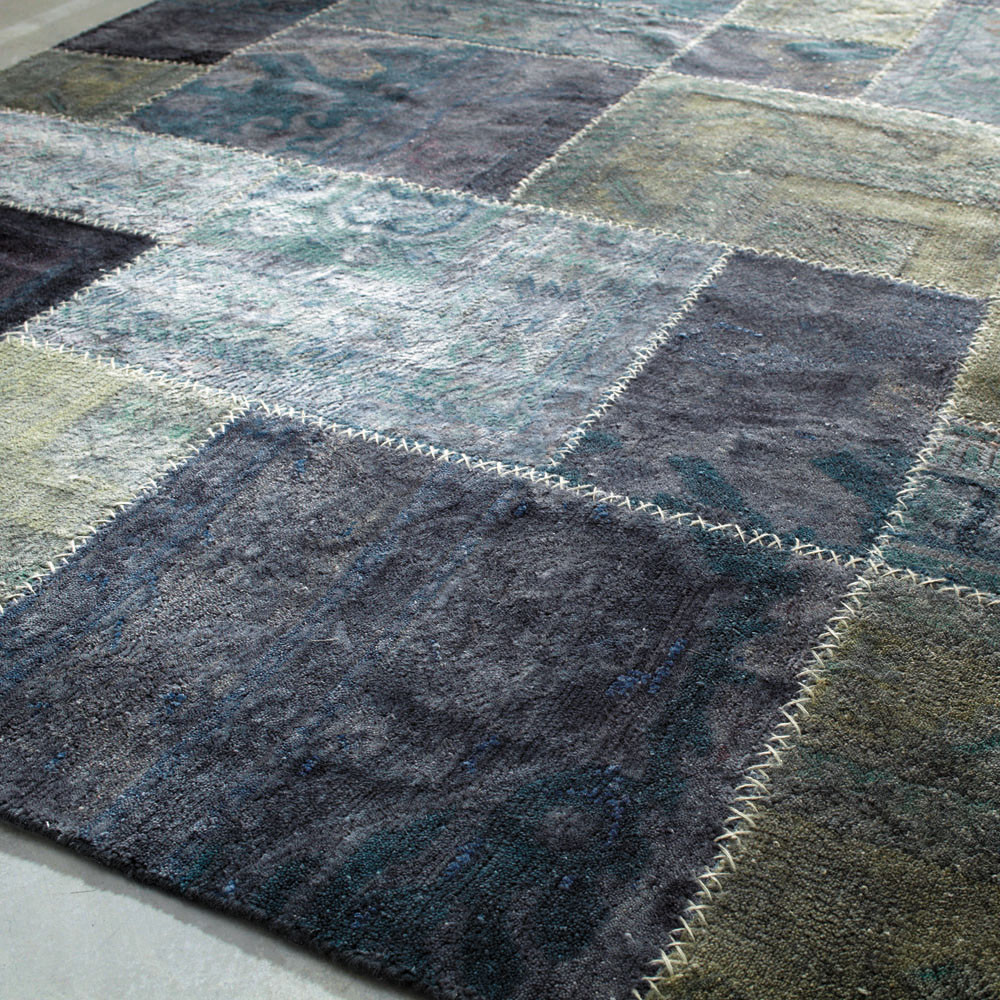 tapis adana bleu maisons du monde. Black Bedroom Furniture Sets. Home Design Ideas