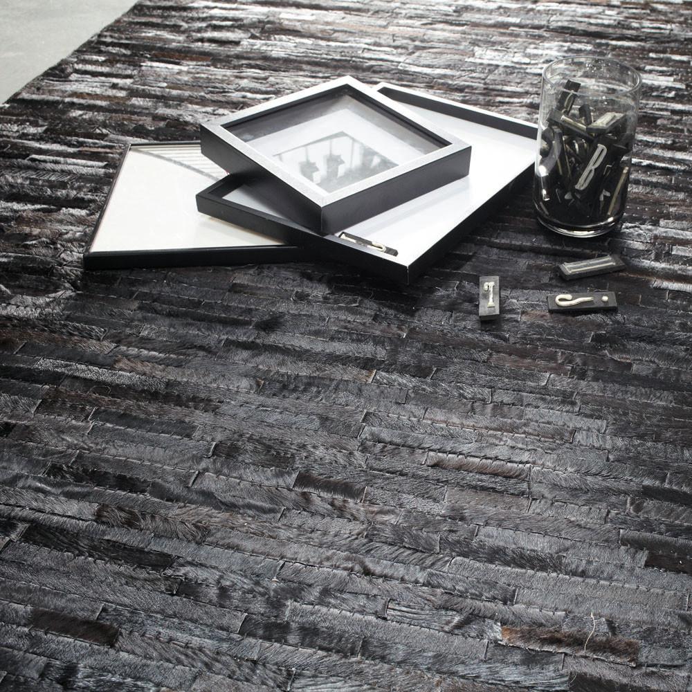 tapis arty noir maisons du monde. Black Bedroom Furniture Sets. Home Design Ideas
