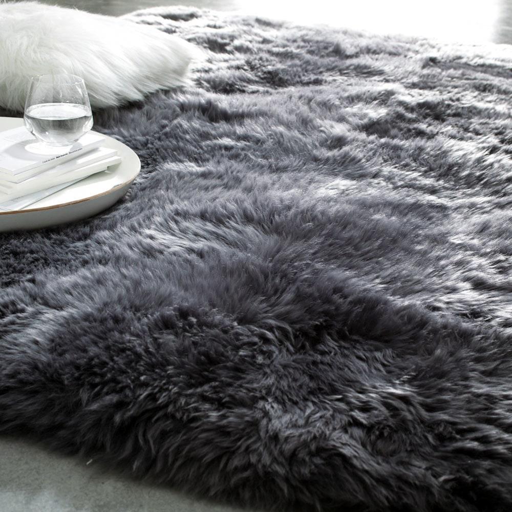 tapis auckland gris 140x200 maisons du monde. Black Bedroom Furniture Sets. Home Design Ideas