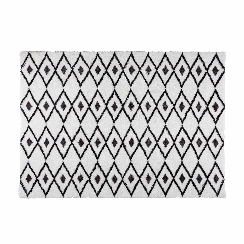 Tapis berbère noir et blanc 160x230 Jyam   Maisons du Monde 421e3712418a