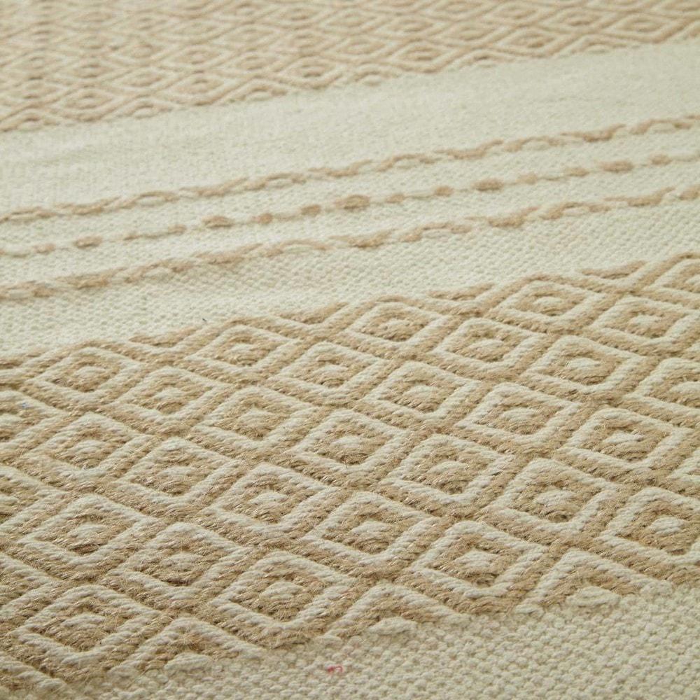 tapis blanc beige white 160x230 maisons du monde. Black Bedroom Furniture Sets. Home Design Ideas