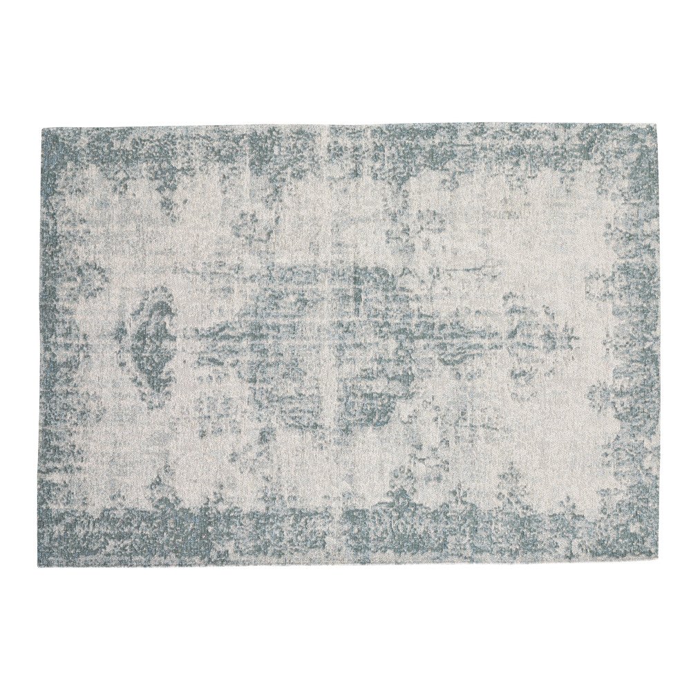 tapis bleu 140 x 200 cm villandry maisons du monde. Black Bedroom Furniture Sets. Home Design Ideas
