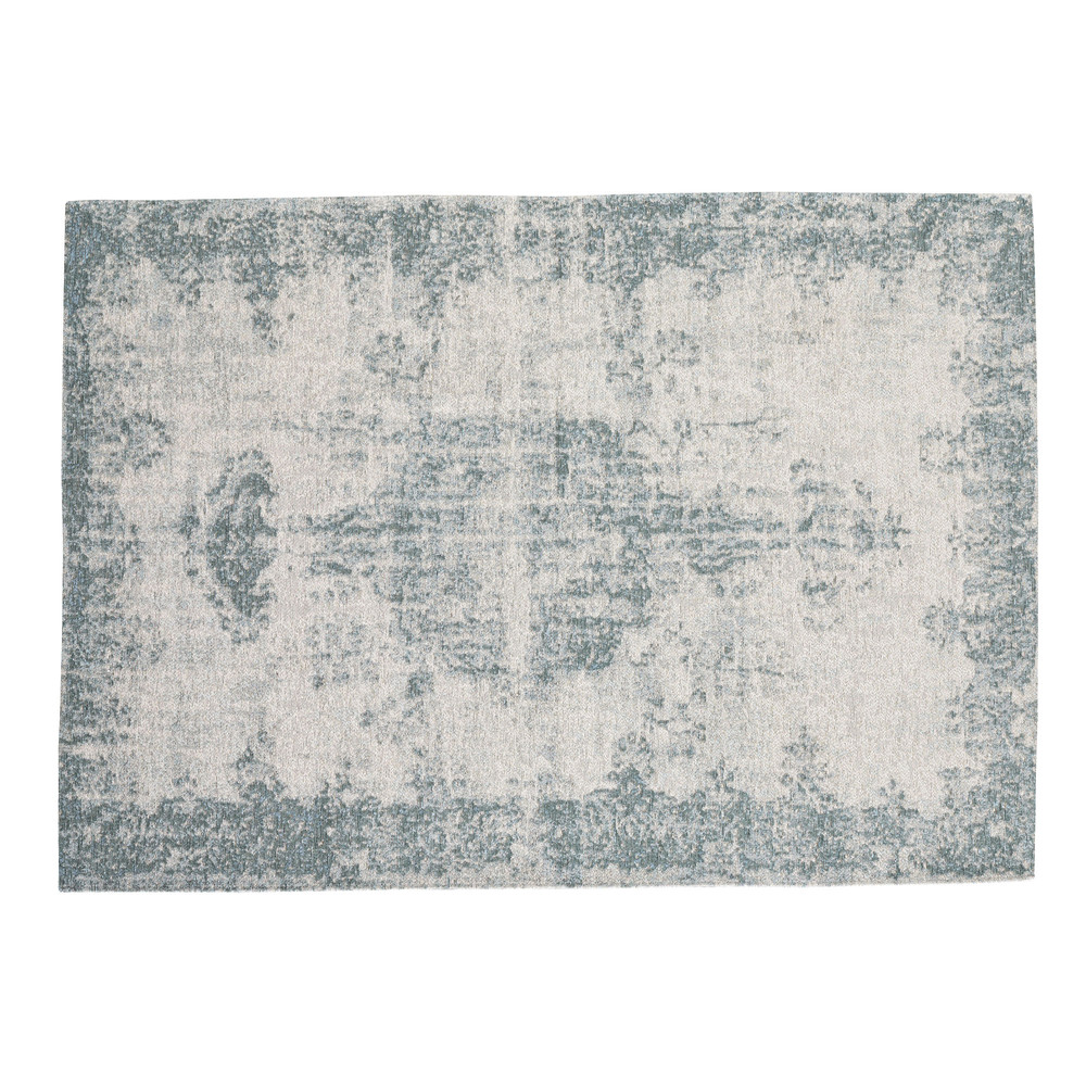 tapis bleu 155 x 230 cm villandry maisons du monde. Black Bedroom Furniture Sets. Home Design Ideas