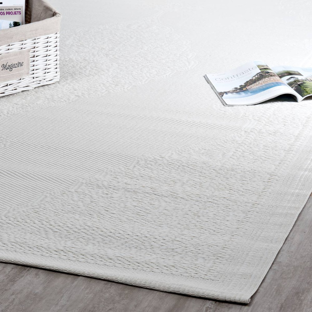 tapis d 39 ext rieur en polypropyl ne blanc 180 x 270 cm ibiza maisons du monde. Black Bedroom Furniture Sets. Home Design Ideas