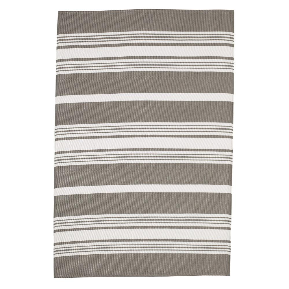 tapis d 39 ext rieur en polypropyl ne blanc beige 120 x 180 cm transat maisons du monde. Black Bedroom Furniture Sets. Home Design Ideas