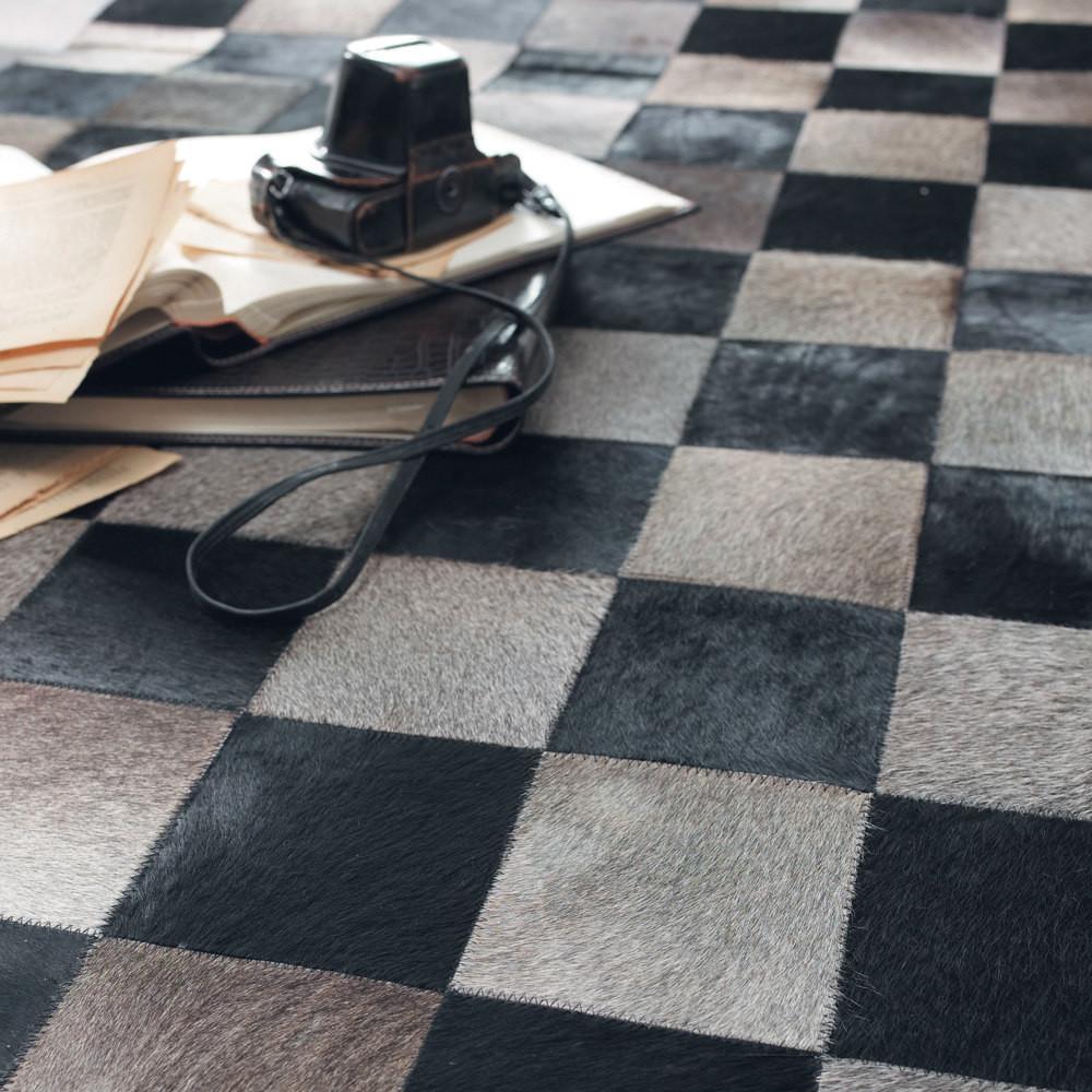 tapis damier maisons du monde. Black Bedroom Furniture Sets. Home Design Ideas