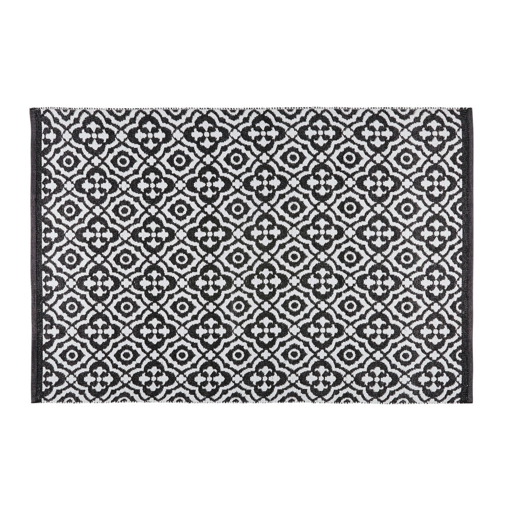 tapis de jardin motifs noirs et blancs 140x200cm corolia maisons du monde. Black Bedroom Furniture Sets. Home Design Ideas