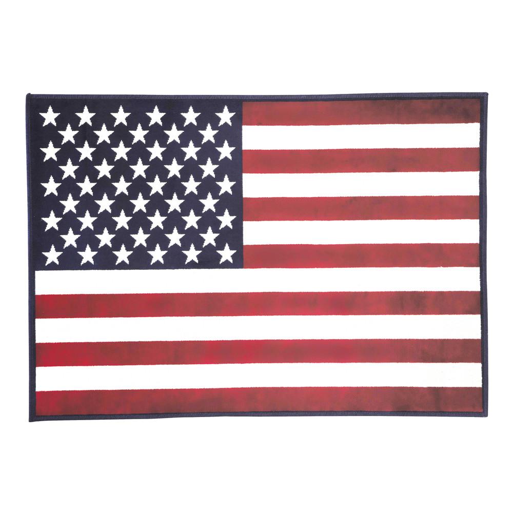 Tapis drapeau 120 x 170 cm usa maisons du monde for Decoration de chambre usa