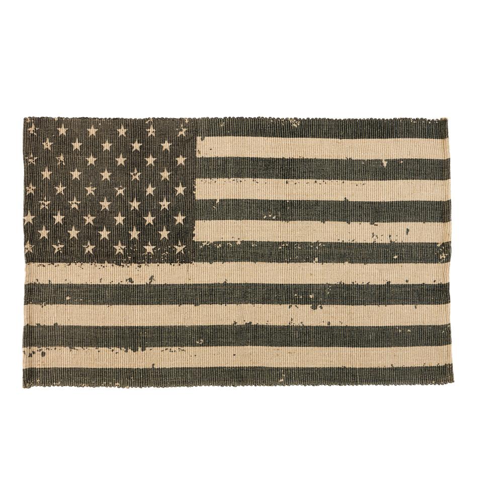 tapis drapeau usa en jute 102 x 180 cm maisons du monde. Black Bedroom Furniture Sets. Home Design Ideas