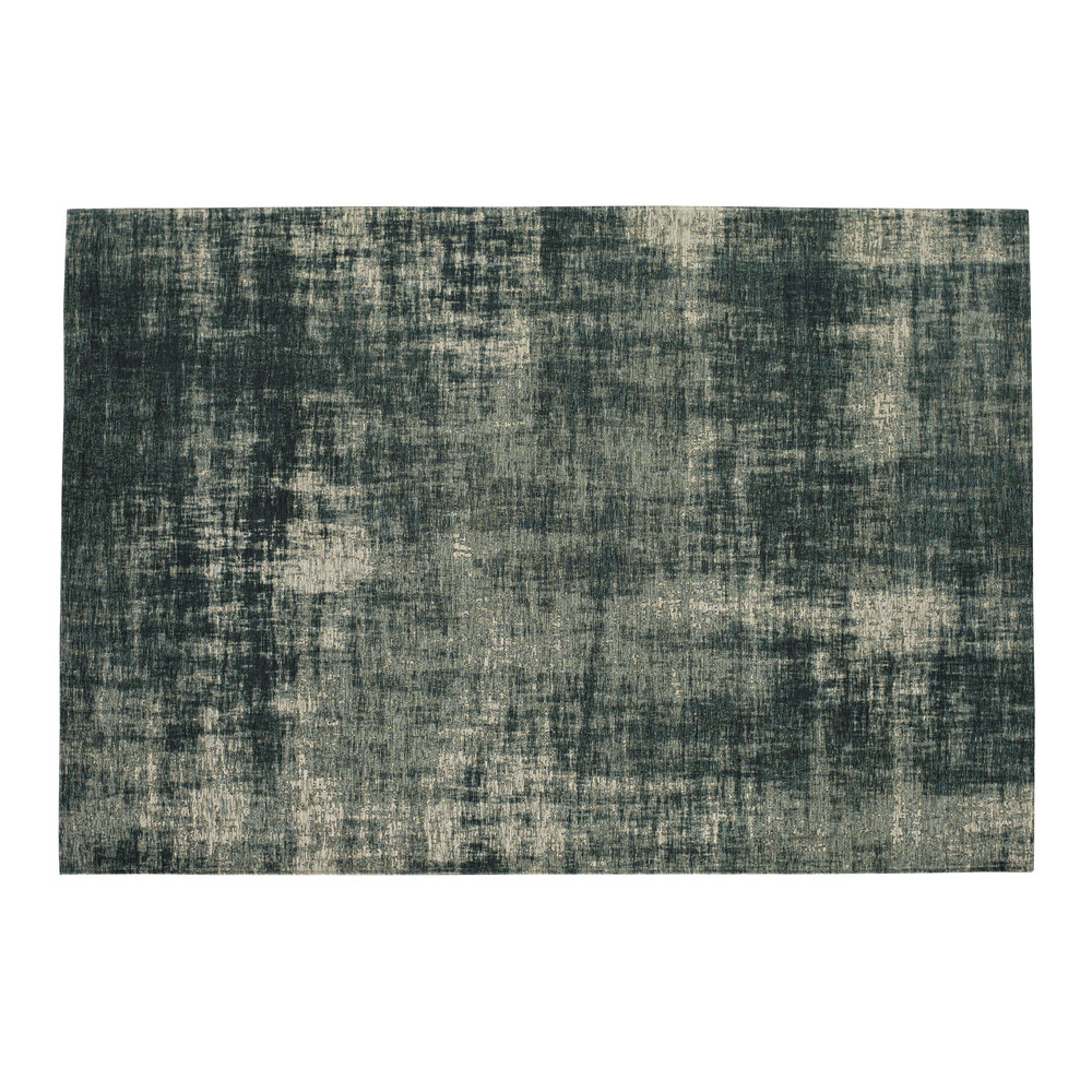 tapis en coton bleu 140 x 200 cm feel azur maisons du monde. Black Bedroom Furniture Sets. Home Design Ideas