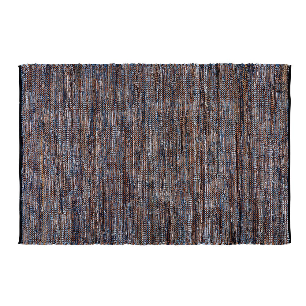 tapis en coton et cuir 160x230cm jeana maisons du monde. Black Bedroom Furniture Sets. Home Design Ideas