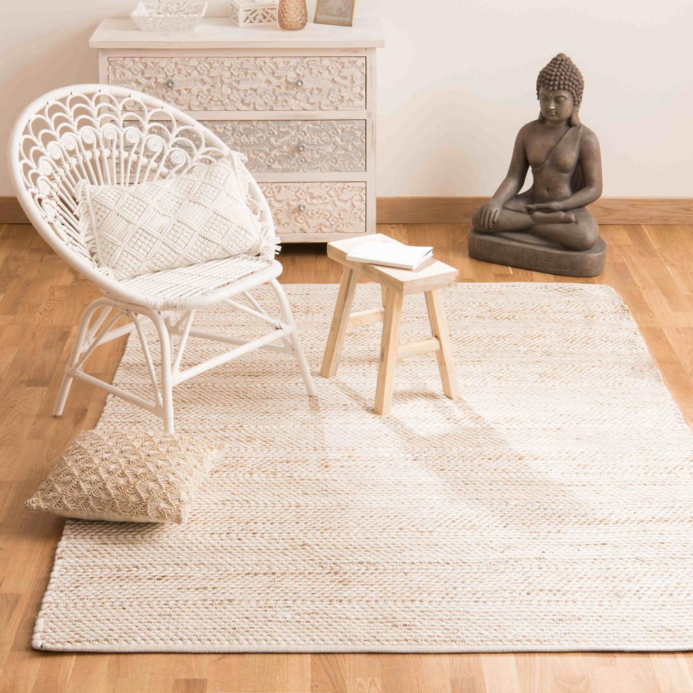 tapis en coton et jute 160 x 230 cm barcelone maisons du monde. Black Bedroom Furniture Sets. Home Design Ideas