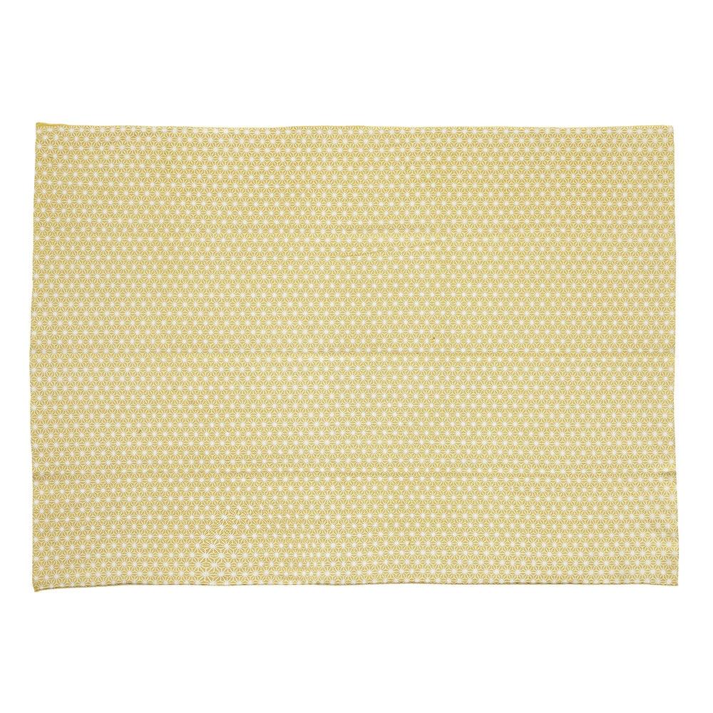 tapis en coton jaune moutarde 60 x 120 cm origami maisons du monde. Black Bedroom Furniture Sets. Home Design Ideas