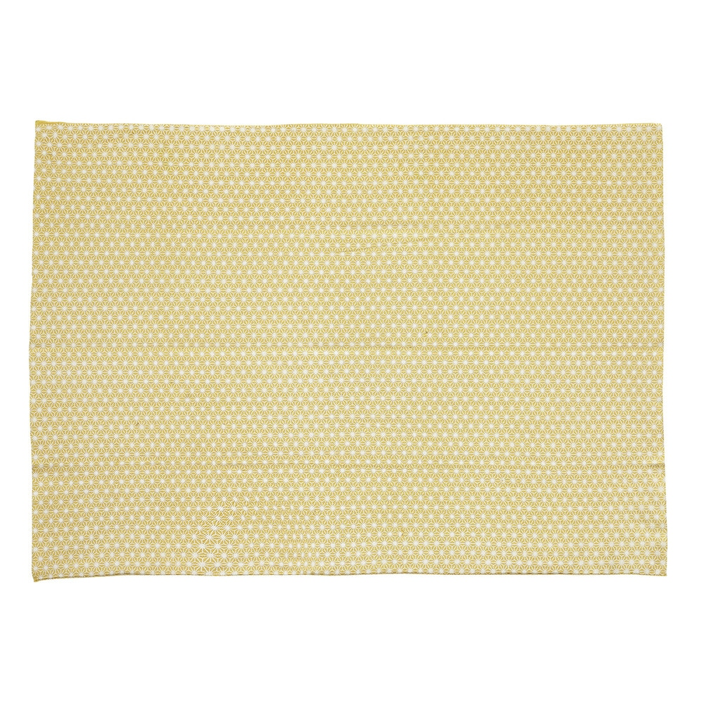 tapis en coton jaune moutarde 60 x 120 cm origami. Black Bedroom Furniture Sets. Home Design Ideas