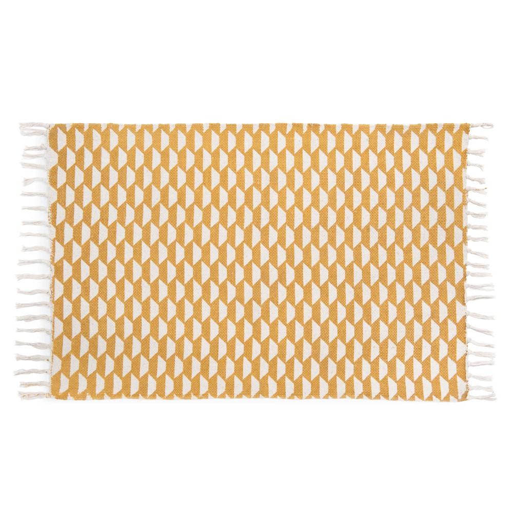 tapis en coton moutarde 60 x 90 cm deal maisons du monde. Black Bedroom Furniture Sets. Home Design Ideas