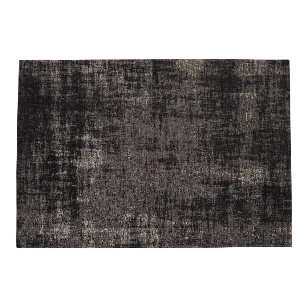 tapis en coton noir 140 x 200 cm feel maisons du monde. Black Bedroom Furniture Sets. Home Design Ideas