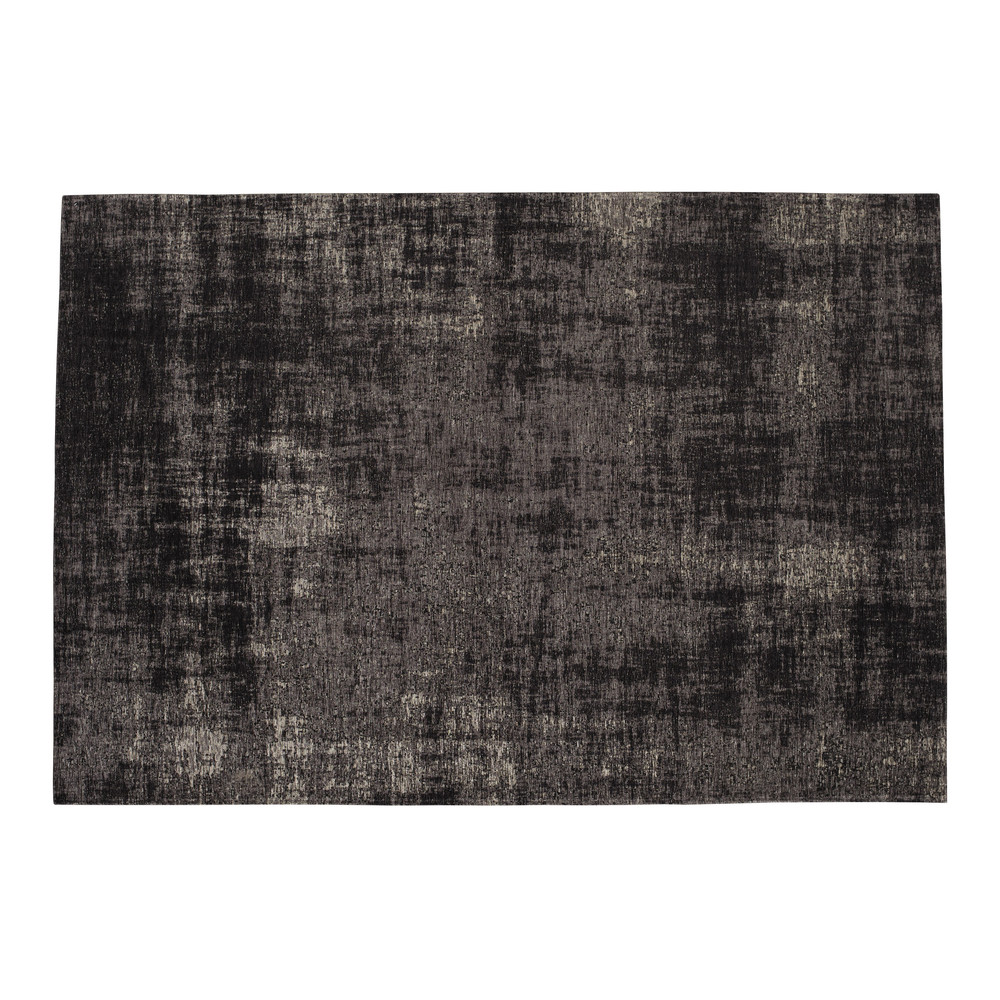 tapis en coton noir 155 x 230 cm feel maisons du monde. Black Bedroom Furniture Sets. Home Design Ideas