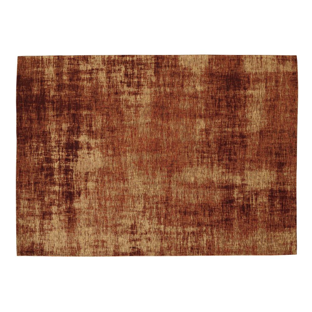 tapis en coton orange terracotta 155 x 230 cm feel maisons du monde. Black Bedroom Furniture Sets. Home Design Ideas