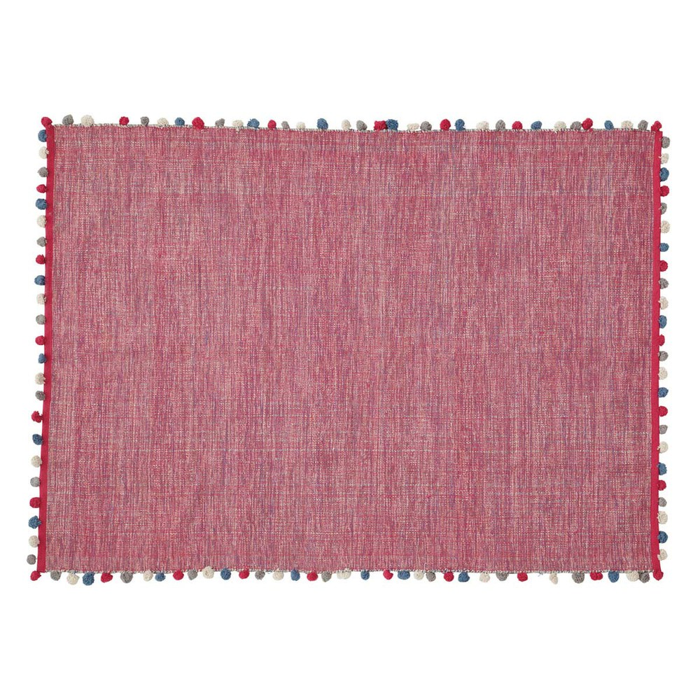 tapis en coton rose fuchsia 120 x 180 cm pompon maisons. Black Bedroom Furniture Sets. Home Design Ideas