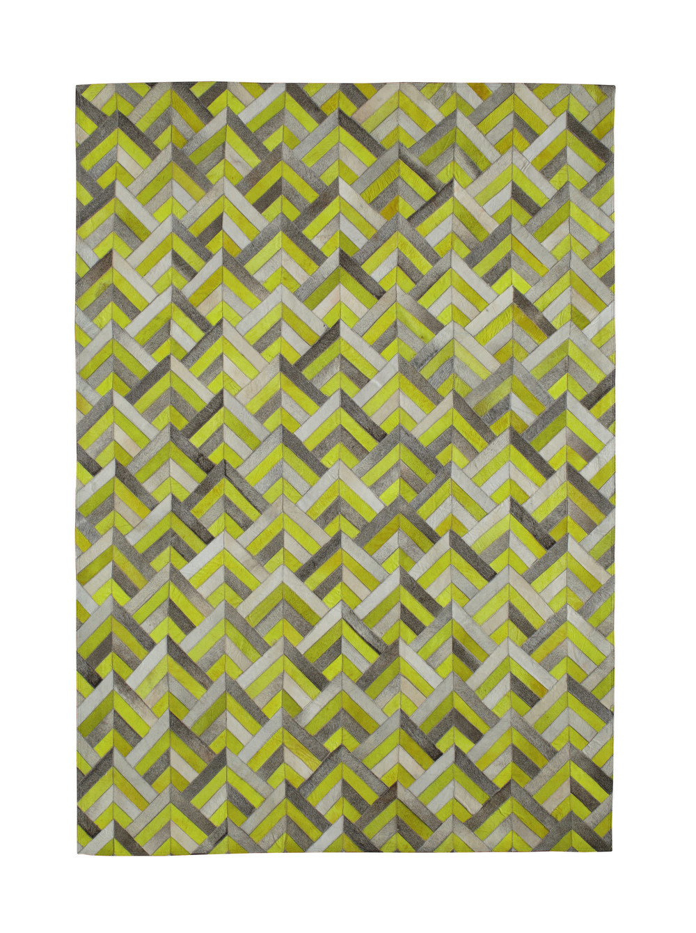 tapis en cuir jaune 140 x 200 cm boomerang maisons du monde. Black Bedroom Furniture Sets. Home Design Ideas