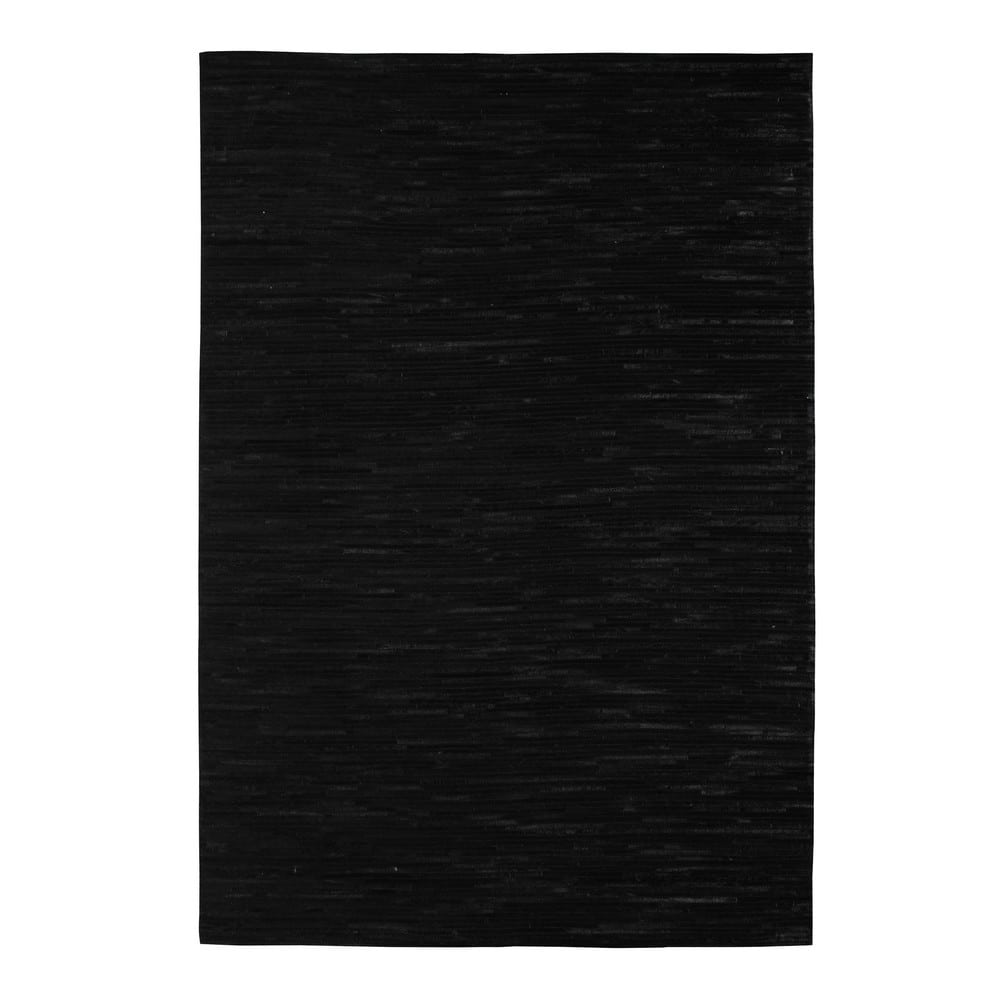 tapis en cuir noir 160 x 230 cm zerma maisons du monde. Black Bedroom Furniture Sets. Home Design Ideas