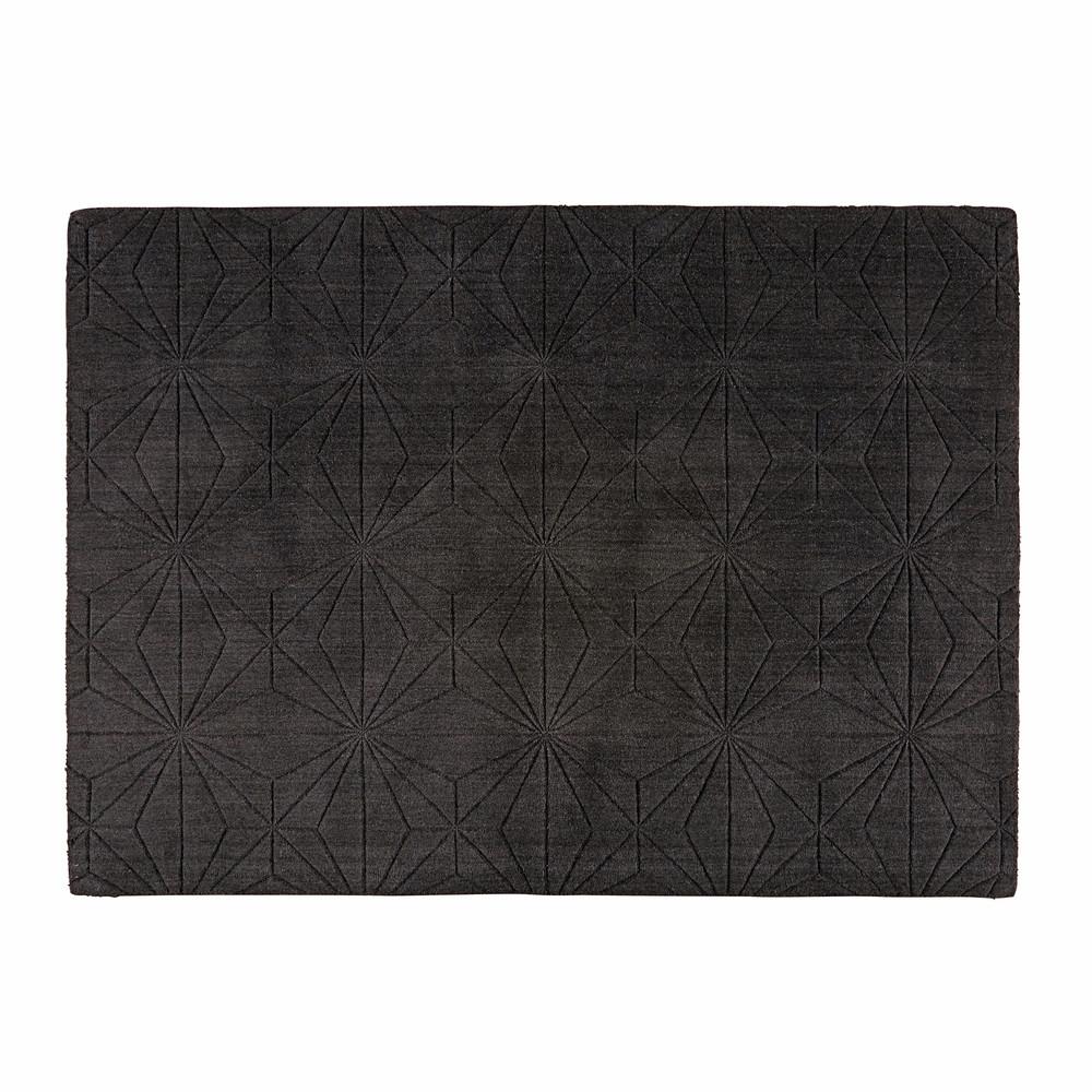 tapis en laine anthracite 140x200cm etoli maisons du monde. Black Bedroom Furniture Sets. Home Design Ideas
