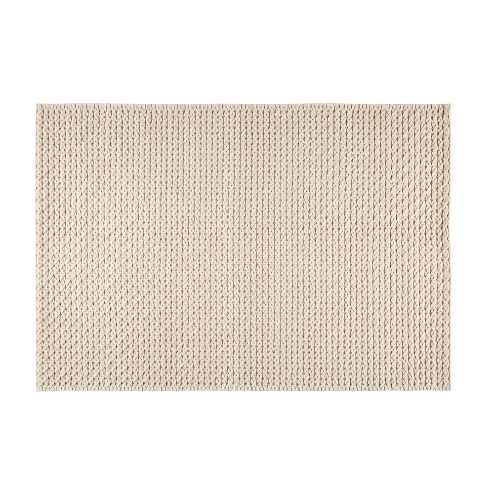 tapis en laine et coton cru 160x230cm mojave maisons du monde. Black Bedroom Furniture Sets. Home Design Ideas