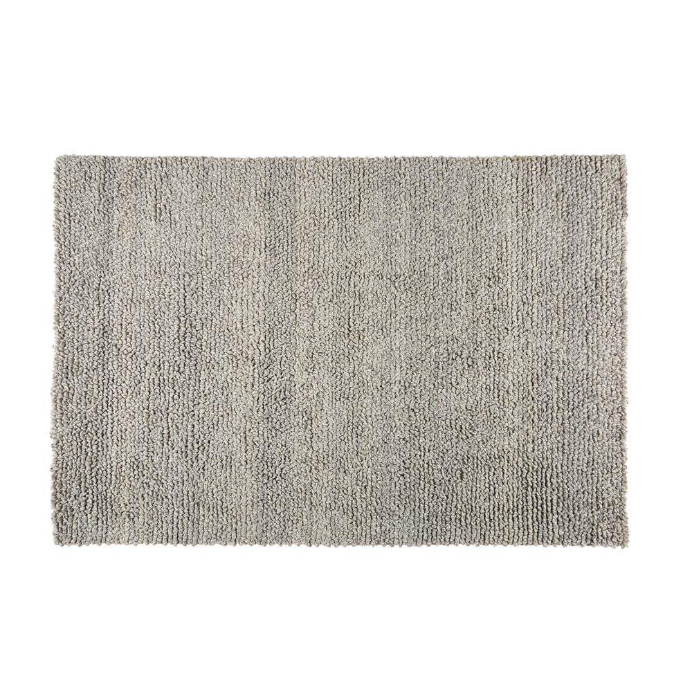 tapis en laine et coton gris 160x230cm dry maisons du monde. Black Bedroom Furniture Sets. Home Design Ideas