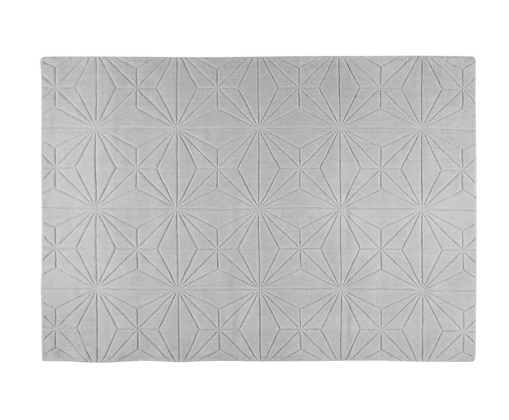 Tapis en laine gris 160x230cm etoli maisons du monde - Tapis classique laine ...
