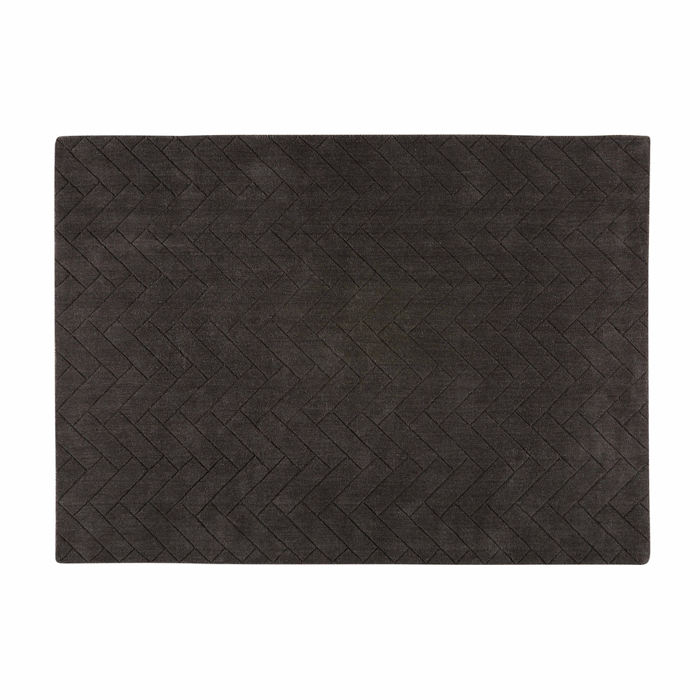 tapis en laine gris charbon 160x230cm brikia maisons du monde. Black Bedroom Furniture Sets. Home Design Ideas