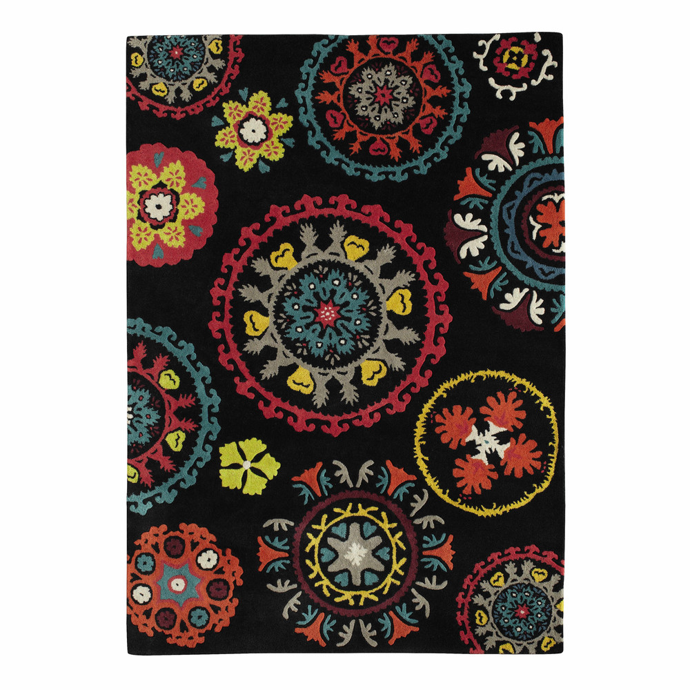 tapis en laine multicolore 160 x 230 cm guatama maisons du monde. Black Bedroom Furniture Sets. Home Design Ideas