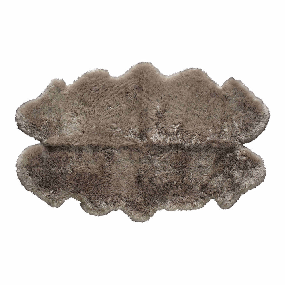 Tapis en peau de mouton beige 110 x 180 cm maisons du monde - Tapis peau de mouton synthetique ...