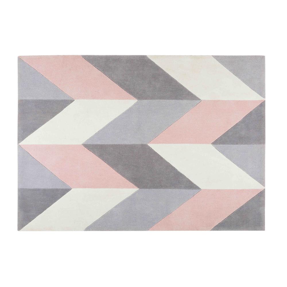 Tapis en tissu motifs g om triques 140x200cm lummus maisons du monde - Tapis exterieur maison du monde ...