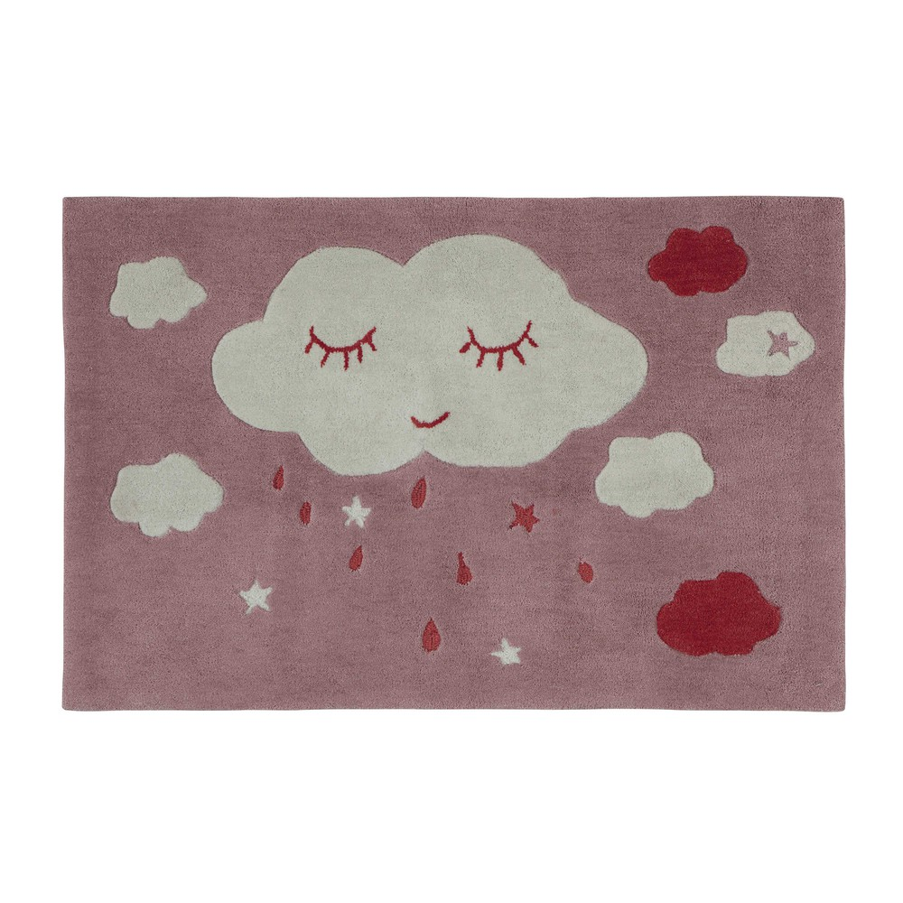 Tapis enfant nuage rose x cm coquette with tapis rose pour - Tapis pour chambre de fille ...