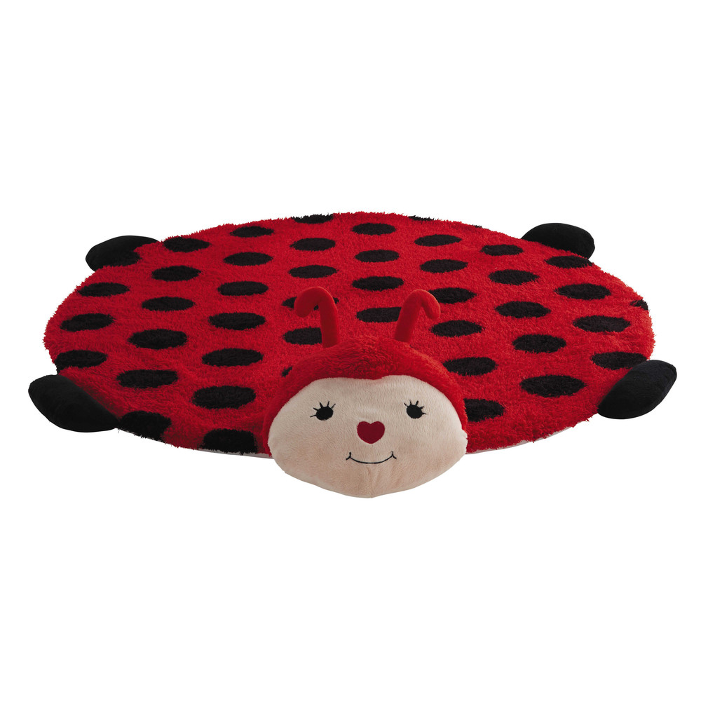 tapis enfant rouge 60 x 80 cm coccinelle maisons du monde. Black Bedroom Furniture Sets. Home Design Ideas