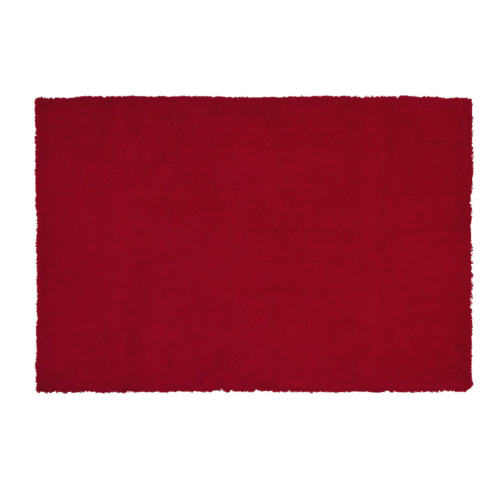 tapis fausse fourrure rouge 120 x 180 cm magic maisons du monde. Black Bedroom Furniture Sets. Home Design Ideas