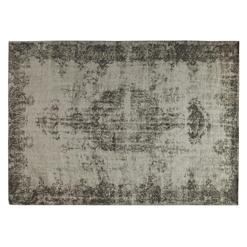 Tapis gris 200 x 290 cm villandry maisons du monde - Tappeto pelo raso ...