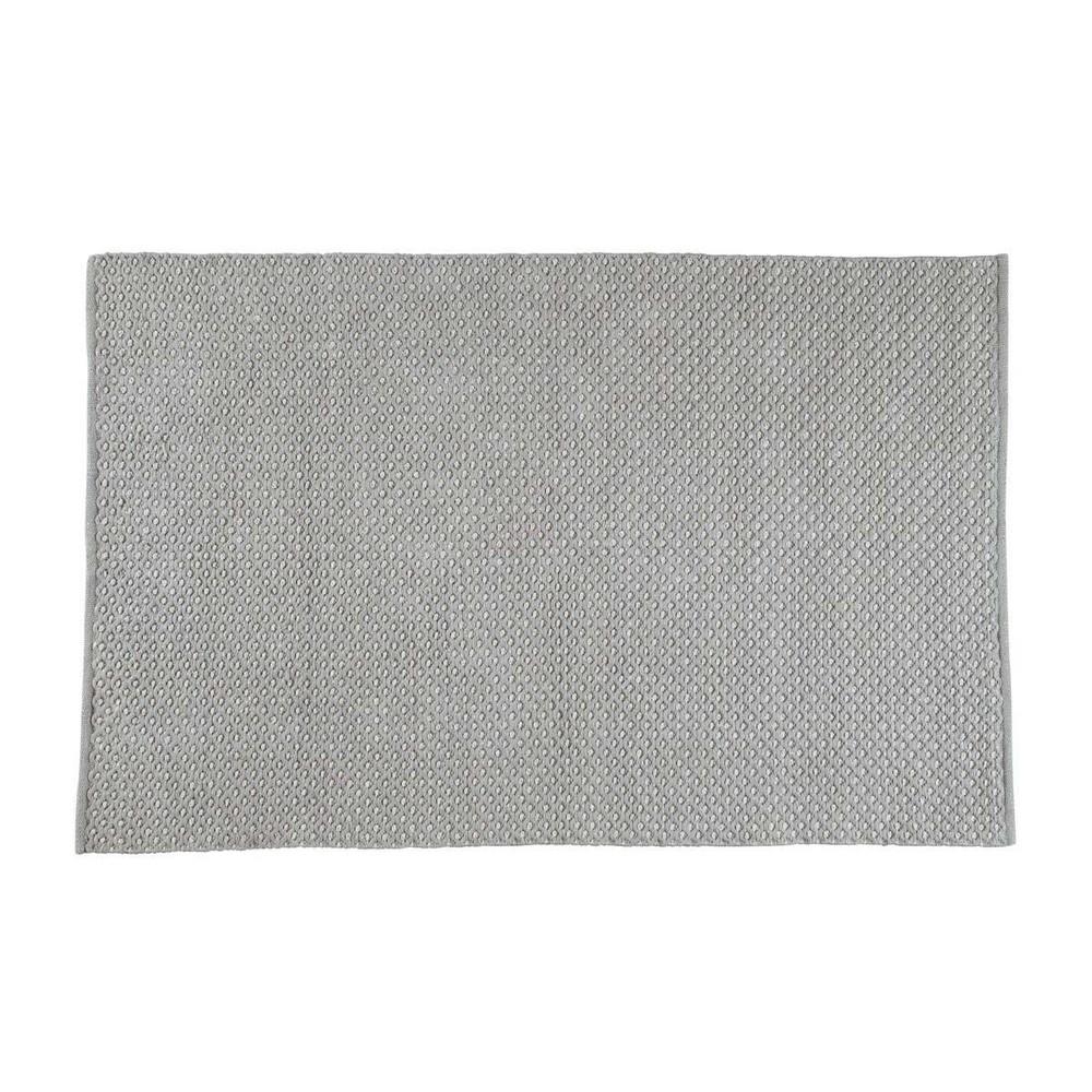 Tapis gris alexandra 140x200 maisons du monde for Tapis gris poil court