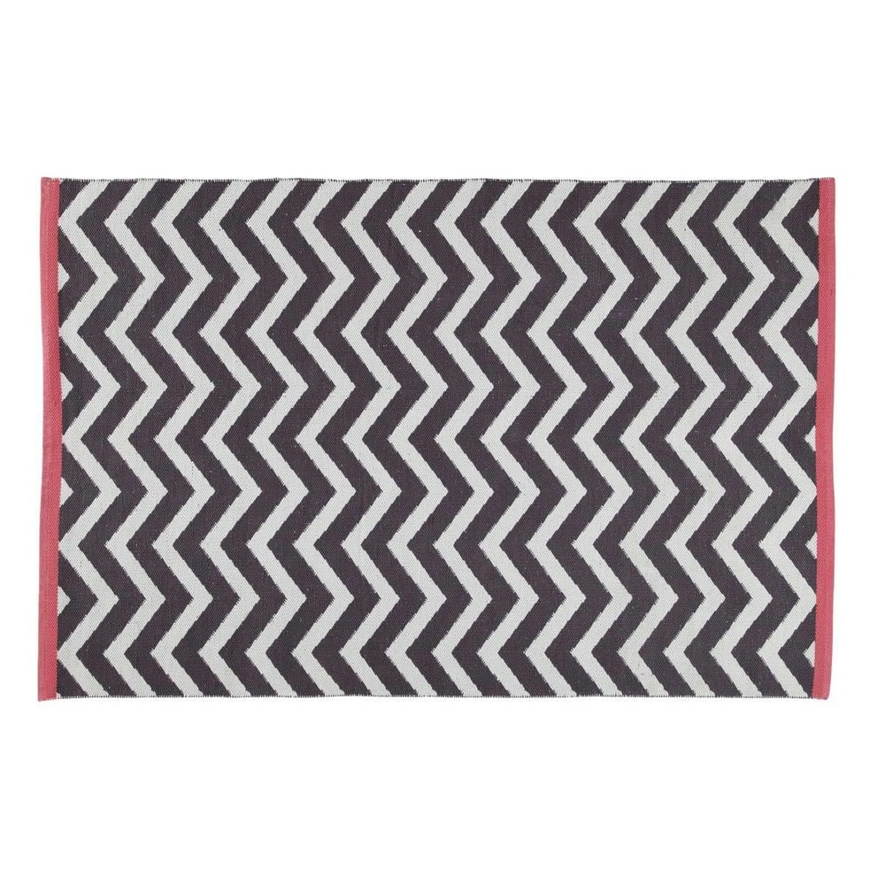 Tapis gris anthracite wave 140x200 maisons du monde for Maison du monde waves metz