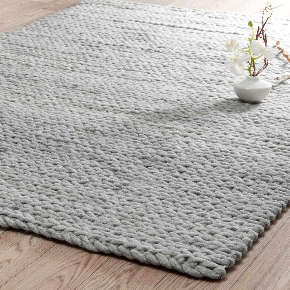 Tapis gris clair stockholm 140x200 maisons du monde for Maison du monde textile