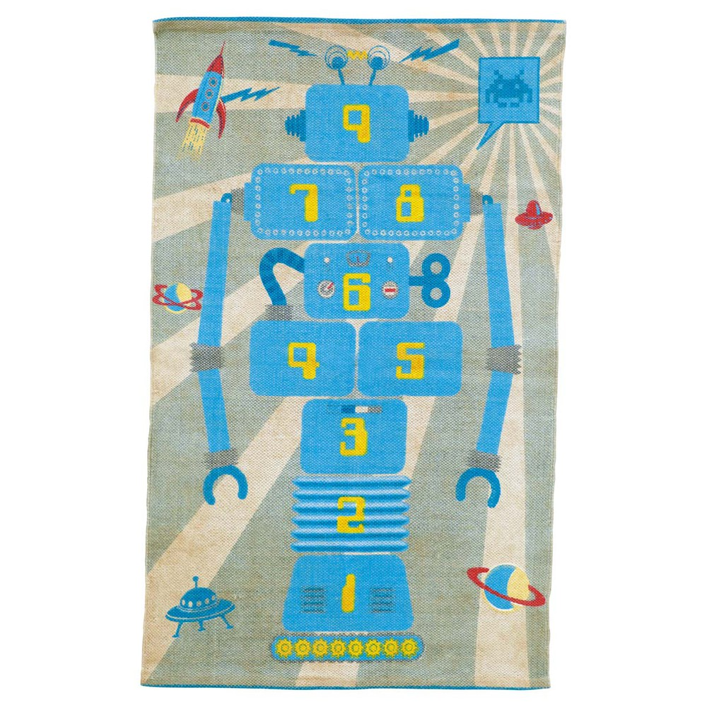 tapis marelle enfant robot maisons du monde. Black Bedroom Furniture Sets. Home Design Ideas