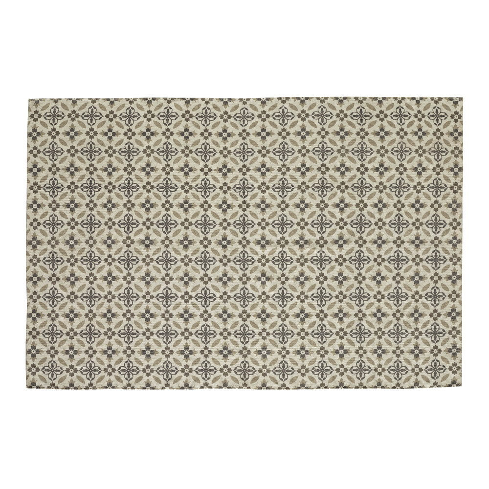 tapis motif carreaux de ciment 140 x 200 cm hortance maisons du monde. Black Bedroom Furniture Sets. Home Design Ideas