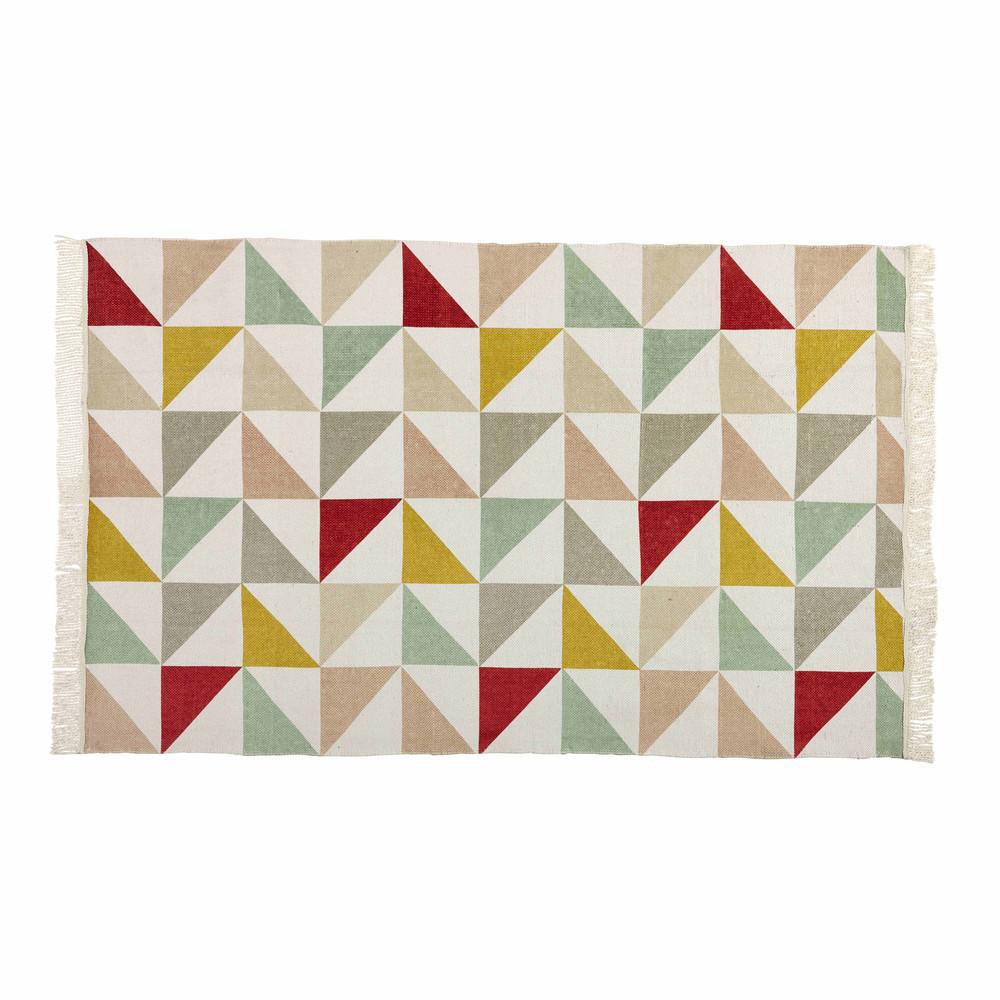 Tapis Motif Triangles En Coton 120 X 180 Cm L A Maisons Du Monde