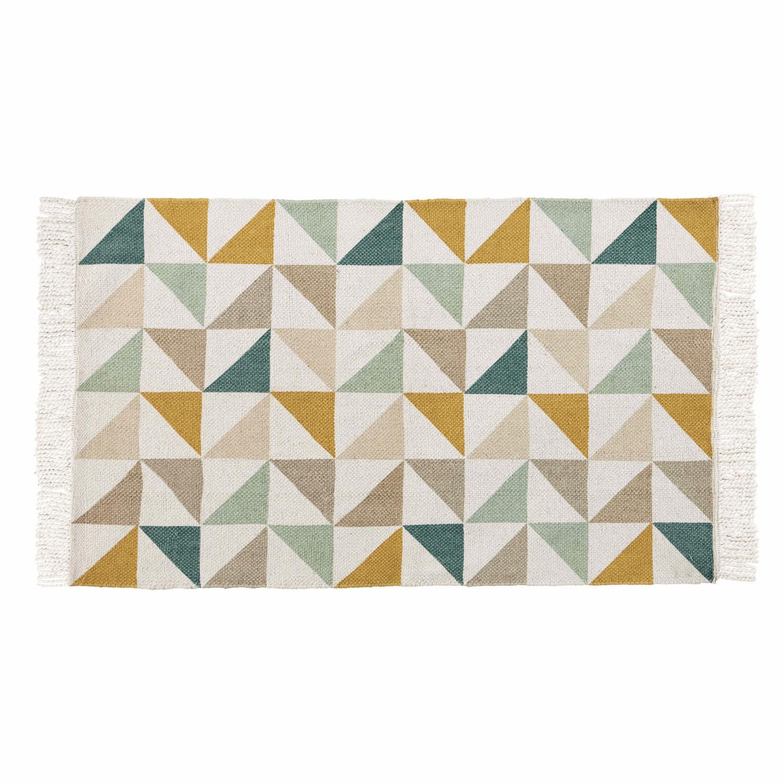 Tapis Motif Triangles En Coton 60 X 100 Cm Gaston Maisons Du Monde