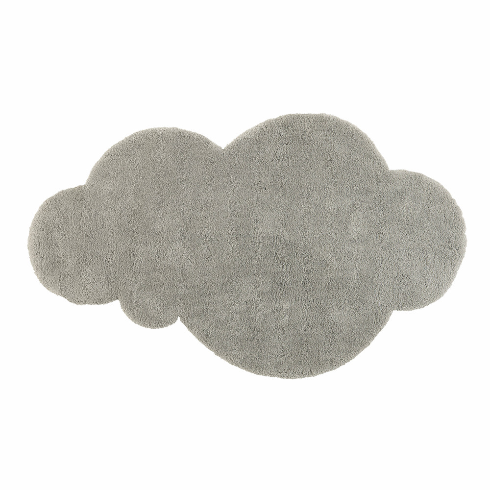 tapis nuage poils courts gris 125 x 200 cm maisons du. Black Bedroom Furniture Sets. Home Design Ideas