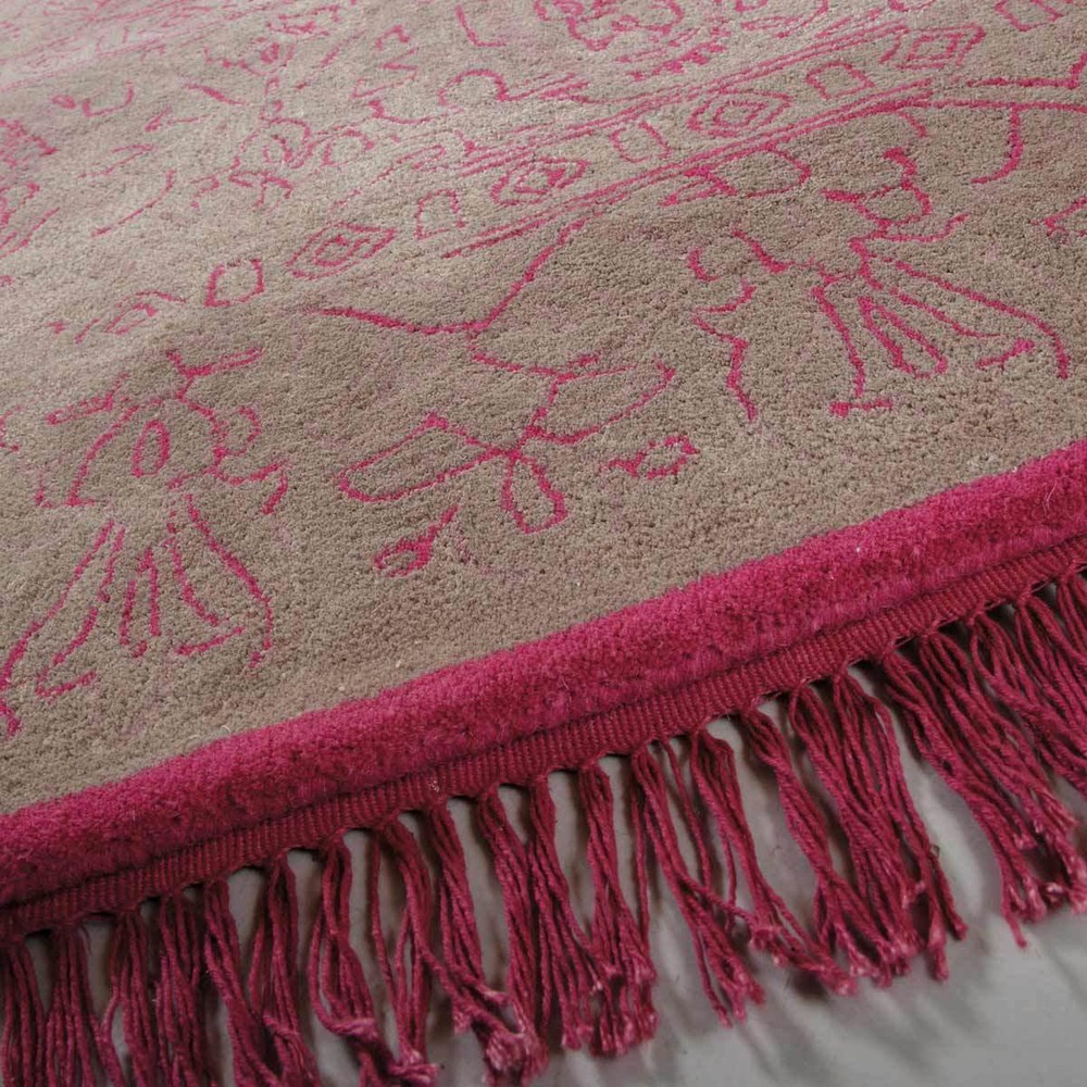 tapis tiss jacquard rose 160 x 230 cm artefact maisons du monde. Black Bedroom Furniture Sets. Home Design Ideas