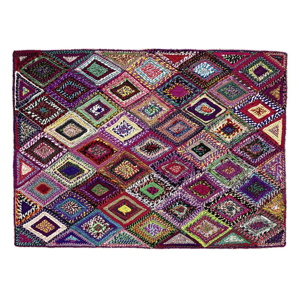 tapis tiss multicolore 140 x 200 cm losame maisons du monde. Black Bedroom Furniture Sets. Home Design Ideas
