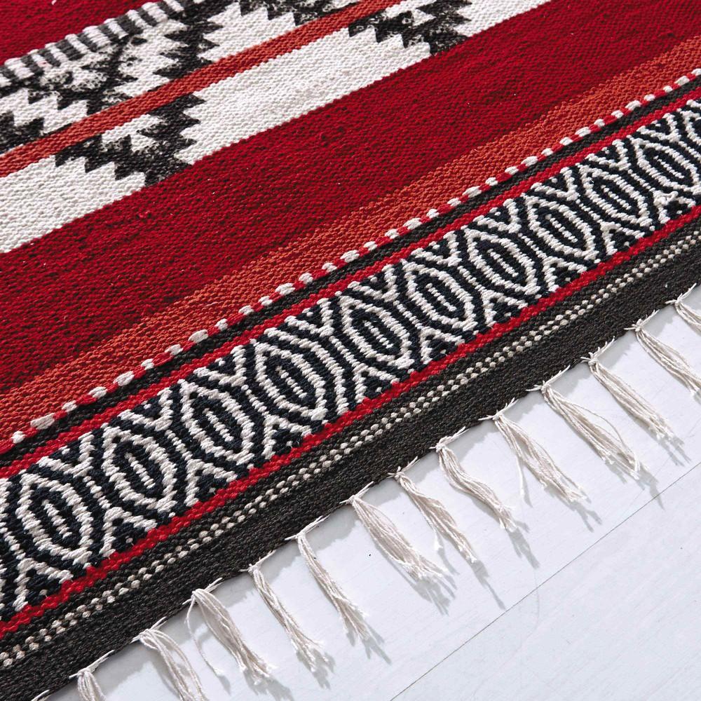 Tapis tress en coton multicolore 230 x 160 cm zigua maisons du monde - Maisons du monde tapis ...