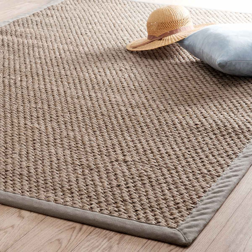 tapis tress en sisal beige 140 x 200 cm bastide maisons du monde. Black Bedroom Furniture Sets. Home Design Ideas